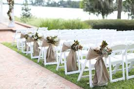 bows for wedding chairs outdoor wedding