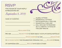 Wedding Rsvp Wording Examples Rsvp Wedding Invitation Sample Finding Wedding Ideas