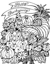 thanksgiving harvest cornucopia thanksgiving coloring pages