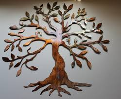 olive tree tree of live metal wall by heavensgatemetalwork