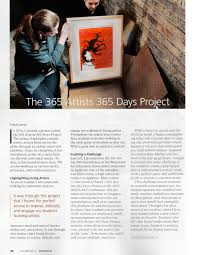 the 365 artists 365 days project featured in schoolarts magazine