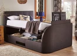 Tv Bed Frames Evolution Slate Tv Ottoman Bed Dreams