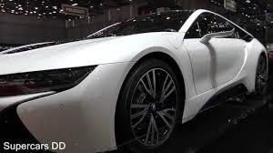 bmw supercar black white bmw i8 hybrid sports car close look supercars dd youtube