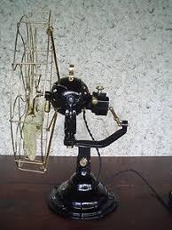 antique westinghouse all brass brass blade electric desk fan 20s