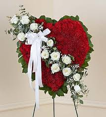 georgetown flowers solid standing heart with white roses georgetown flowers gifts