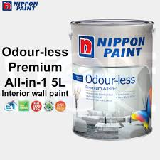 qoo10 nippon paint odourless all in 1 premium emulsion paint 5l