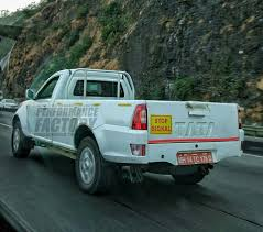 indian car tata tata xenon facelift emerges testing in western india find new