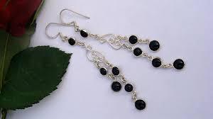 black onyx earrings black onyx earrings 925 sterling silver black dangle