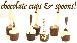 edible chocolate cups to buy how to make chocolate spoons with cups for the ultimate hot