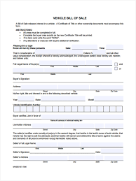 Free Bill Of Sale Car by 9 Car Bill Of Sale Form Sample Free Sample Example Format Download