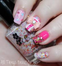 easy valentine u0027s day nail art wrapped with a bow featuring