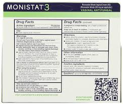 amazon com monistat 3 vaginal antifungal medication 0 18 ounce