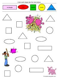 unique worksheets shapes u0026 colors for prk k 35 pages only