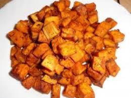 cuisiner patate douce poele patates douces sautées aux épices par cannelle et chocolat