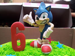 sonic the hedgehog cake topper 3d sonic the hedgehog fondant cake topper charly s bakery flickr