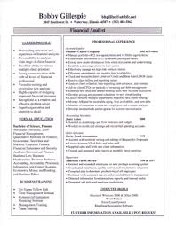 Sample Resume For Financial Analyst by Sample Resumes Resumewriters Com