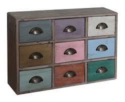 cassettiera da scrivania cassettiera da scrivania vintage in legno multicolor decapato con