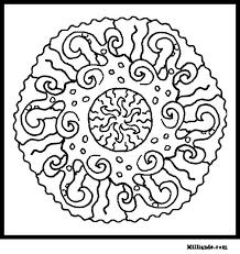 sun mandala art coloring pages hop beautiful sun mandala