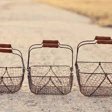 Shabby Chic Wire Baskets by Shop Wire Basket With Handles On Wanelo