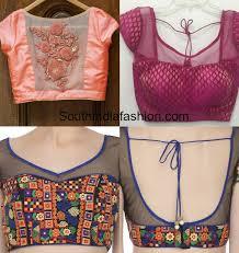 blouse patterns sheer back neck blouse patterns south india fashion