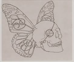 butterfly skull by flangsedai on deviantart