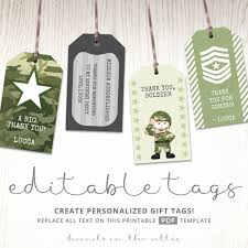 editable gift tags camo party tags military gift tags