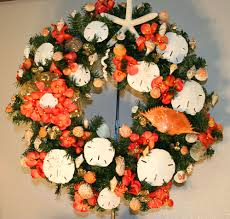 07 orange sand dollar wreath trees by the sea decorated