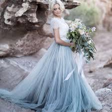 wedding skirt floor length blue tulle skirt separate rdevine fashion