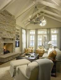 Family Room Sizes Are Going Up And Their Walls Are Coming Down - Design of ceiling in living room