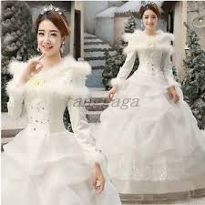 wedding dress korean winter womens korean wedding dress cotton sleeved fur collar