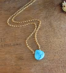 stone turquoise necklace images Lunahoo turquoise stone necklace december birthstone jpg