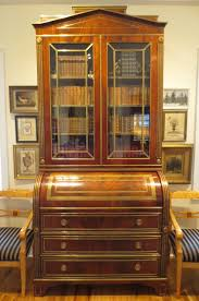 bureau secretaire antique fa0034 antique cylinder bureau secretaire bibliotheque