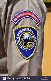tourist police badge cambodia stock photo royalty free image