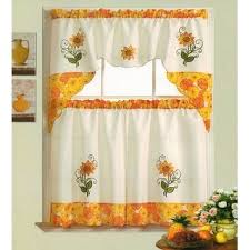 Sunflower Kitchen Curtain by Kitchen Curtain Valances Luxurious Old World Style White Lace