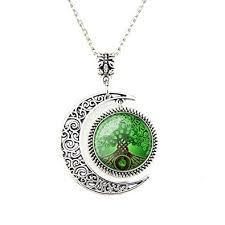 moon pendant celtic tree of necklace wishing tree