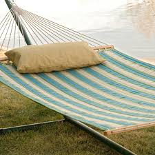 twin oaks rainforest quilted sunbrella fabric double hammock