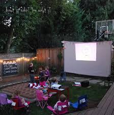 backyard movie night ideas home outdoor decoration