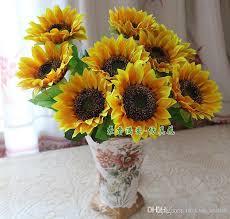 artificial sunflowers online cheap 7 small sunflowers sunflower artificial flowers silk