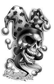 jester tattoo flash by landauart deviantart com on deviantart