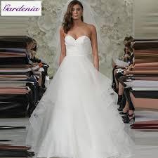 simple bohemian wedding dress a line sweetheart pleats tulle