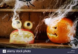 fun spooky homemade halloween food decorations with a carved apple