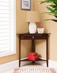 leick corner accent table amazon com kings brand walnut finish wood corner sofa accent table