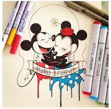 cute mickey and minnie mouse drawing disney pinterest minnie