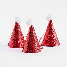 party hats mini santa party hats paper source