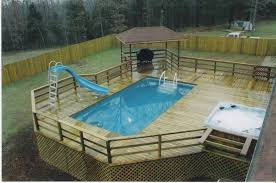 pool delectable backyard decoration by designing round pool deck