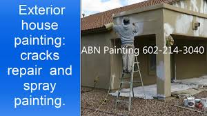 exterior house painting preparation and spray painting youtube