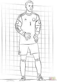 manuel neuer coloring page free printable coloring pages