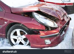 renault dezir interior red car winter crushed damage front stock photo 48560383