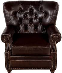 Ralph Lauren Armchair Leather Tufted Club Chair Oversized Lillian August Brown Tufted