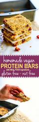 how to make homemade vegan protein bars gluten free